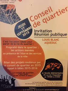 Conseil de Quartier Paris X 20150917